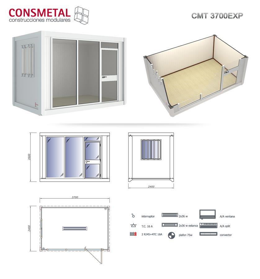 Casetas casetas de obra modulos prefabricados venta for Casetas de metal
