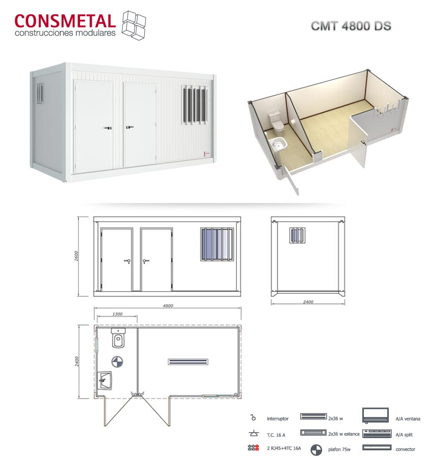 Casetas prefabricadas cabinas sanitarias prefabricados for Casetas de aluminio