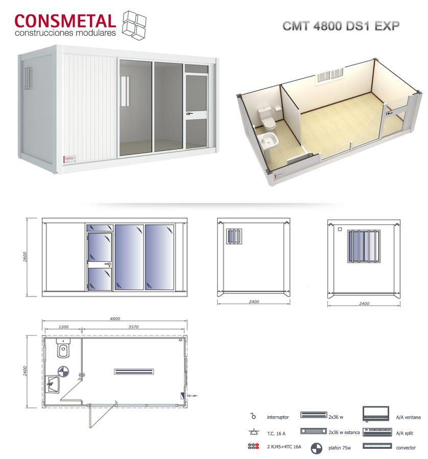 Venta casetas de obra transportes de paneles de madera for Casetas para banos