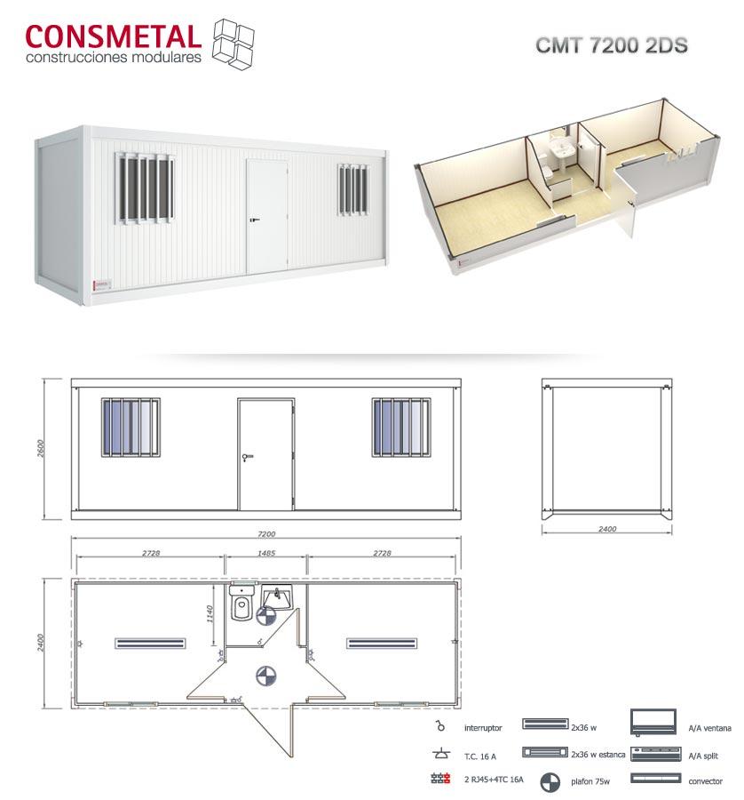 Casetas casetas de obra modulos prefabricados venta for Casetas metalicas a medida