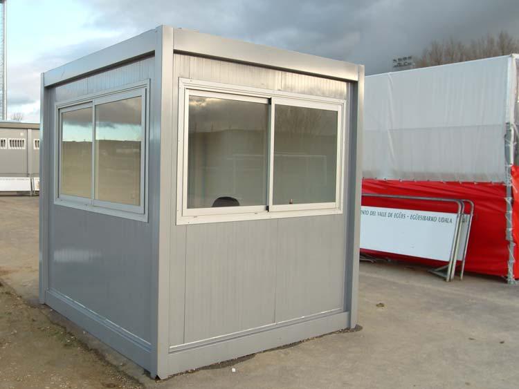Modulos de vigilancia cabinas de control casetas de for Caseta de chapa desmontable